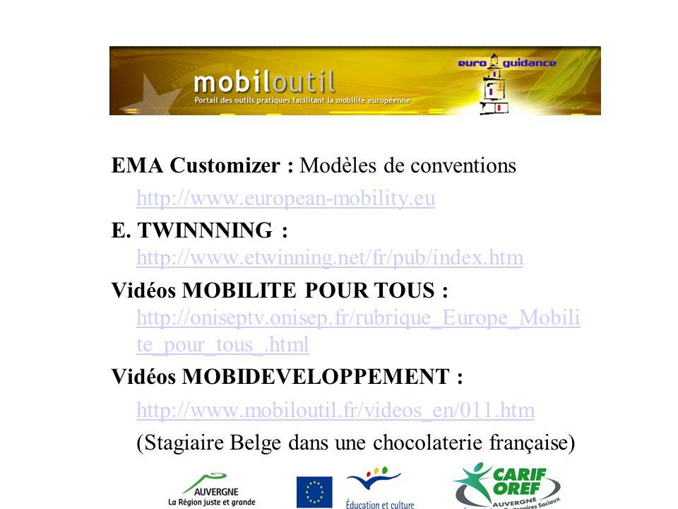 EMA Customizer : Modèles de conventions http://www.european-mobility.eu E.
