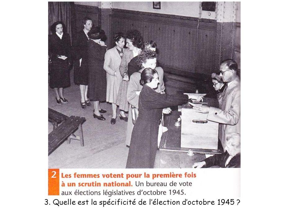 3. Quelle est la spécificité de lélection doctobre 1945 ?