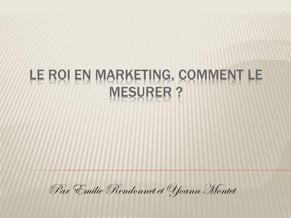 I -Présentation du ROI (Return On Investment) 1.Définition 2.