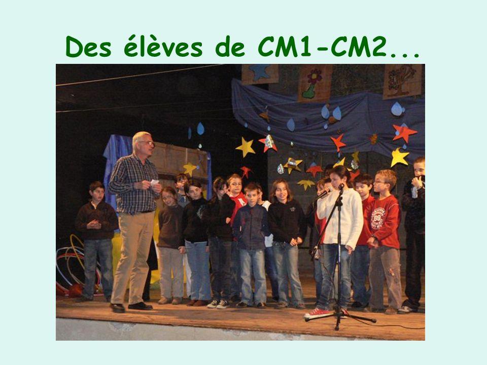 Des élèves de CM1-CM2...