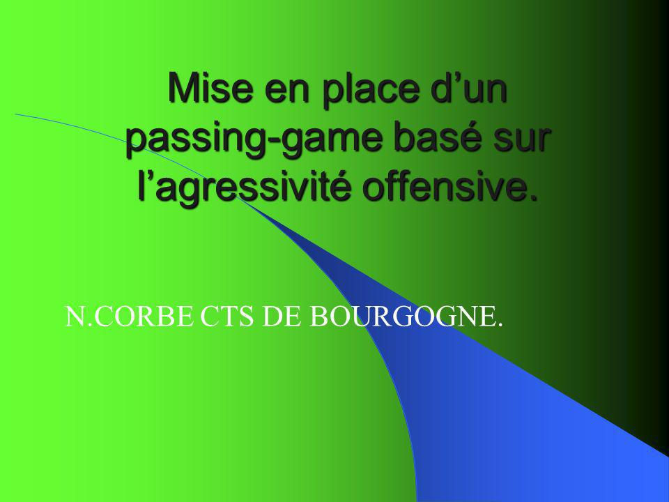 Mise en place dun passing-game basé sur lagressivité offensive. N.CORBE CTS DE BOURGOGNE.