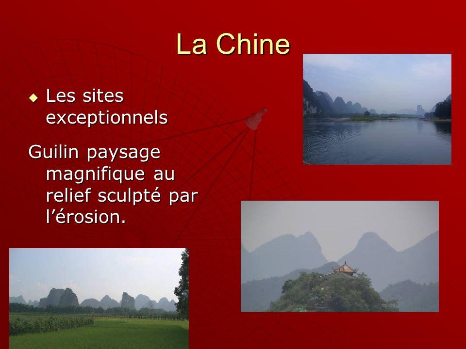 La Chine Les sites exceptionnels Les sites exceptionnels Guilin paysage magnifique au relief sculpté par lérosion.