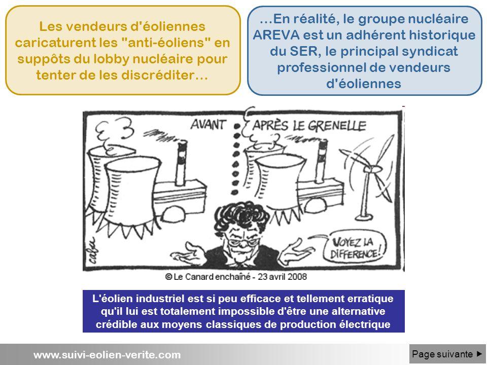www.suivi-eolien-verite.com Les vendeurs d'éoliennes caricaturent les