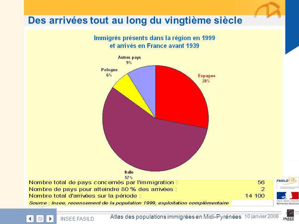 Page 28 Atlas des populations immigrées en Midi-Pyrénées INSEE FASILD 10 janvier 2008 Entre 1999 et 2005, un peu plus de 22 000 immigrés se sont installés dans la région