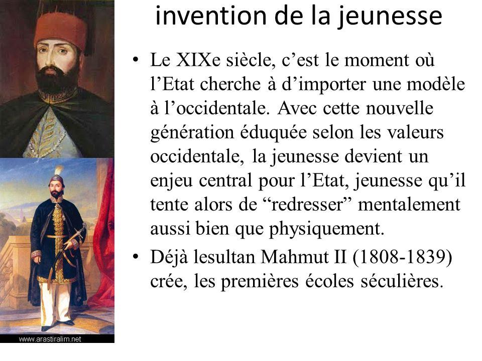 invention de la jeunesse Le XIXe siècle, cest le moment où lEtat cherche à dimporter une modèle à loccidentale. Avec cette nouvelle génération éduquée