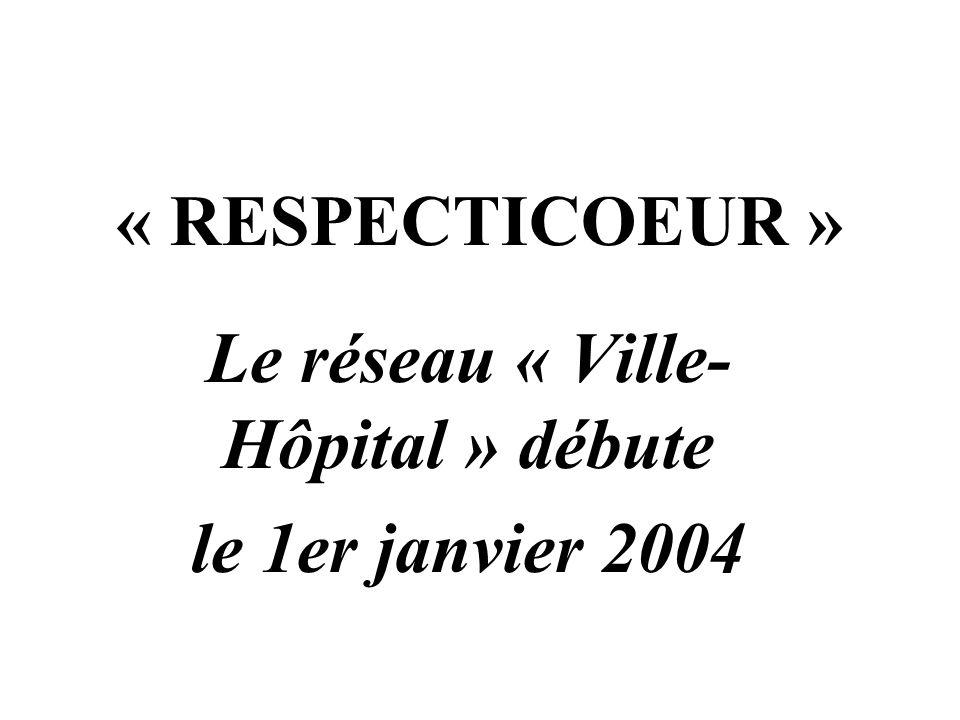 « RESPECTICOEUR » Le réseau « Ville- Hôpital » débute le 1er janvier 2004