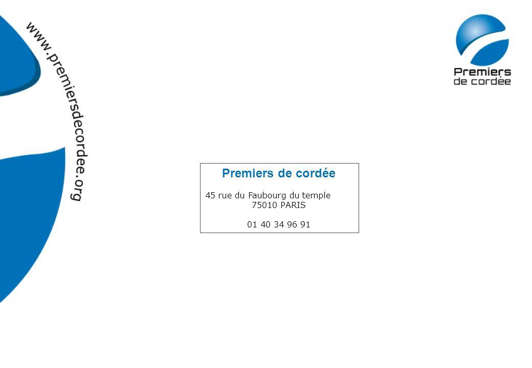Premiers de cordée 45 rue du Faubourg du temple 75010 PARIS 01 40 34 96 91