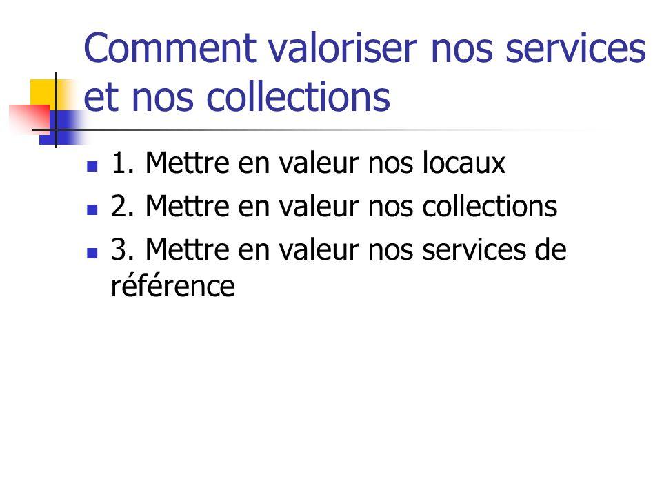 Comment valoriser nos services et nos collections 1.