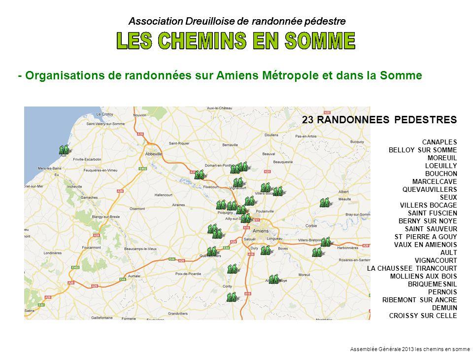 Association Dreuilloise de randonnée pédestre - Organisations de randonnées sur Amiens Métropole et dans la Somme 23 RANDONNEES PEDESTRES CANAPLES BEL