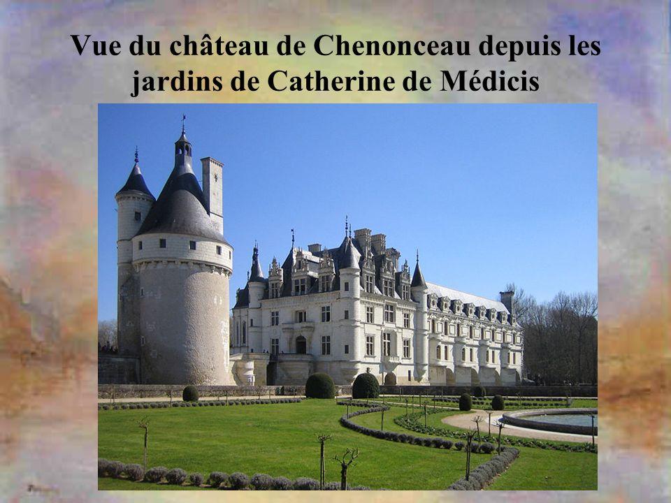 Vue du château de Chenonceau depuis les jardins de Catherine de Médicis