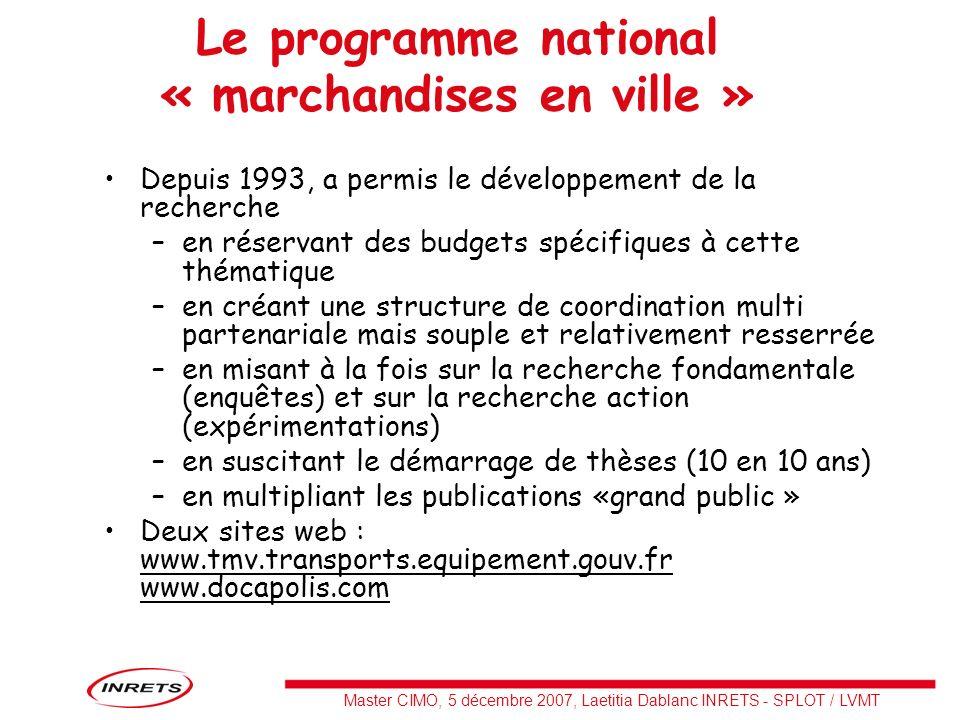 Master CIMO, 5 décembre 2007, Laetitia Dablanc INRETS - SPLOT / LVMT Particuliers: demande de livraison par un tiers Globalement, le e- commerce progresse très vite depuis la fin 2002 : +37% de CA en 2006 en France.