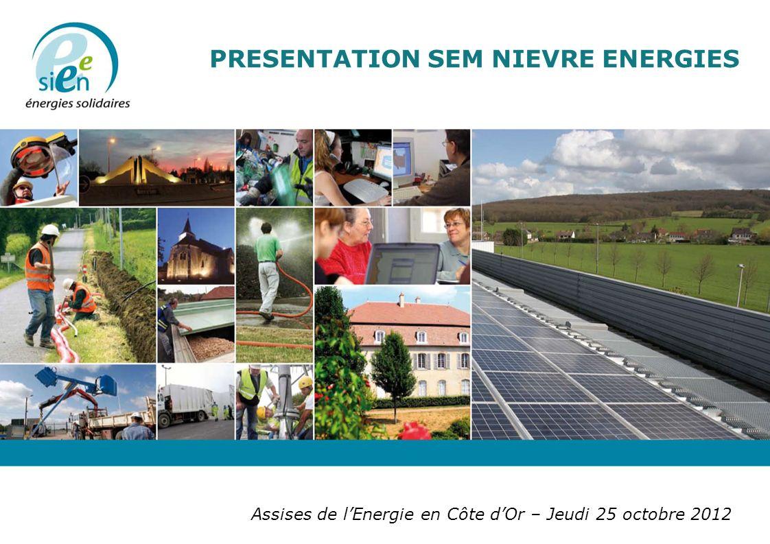 Assises de lEnergie en Côte dOr – Jeudi 25 octobre 2012 PRESENTATION SEM NIEVRE ENERGIES