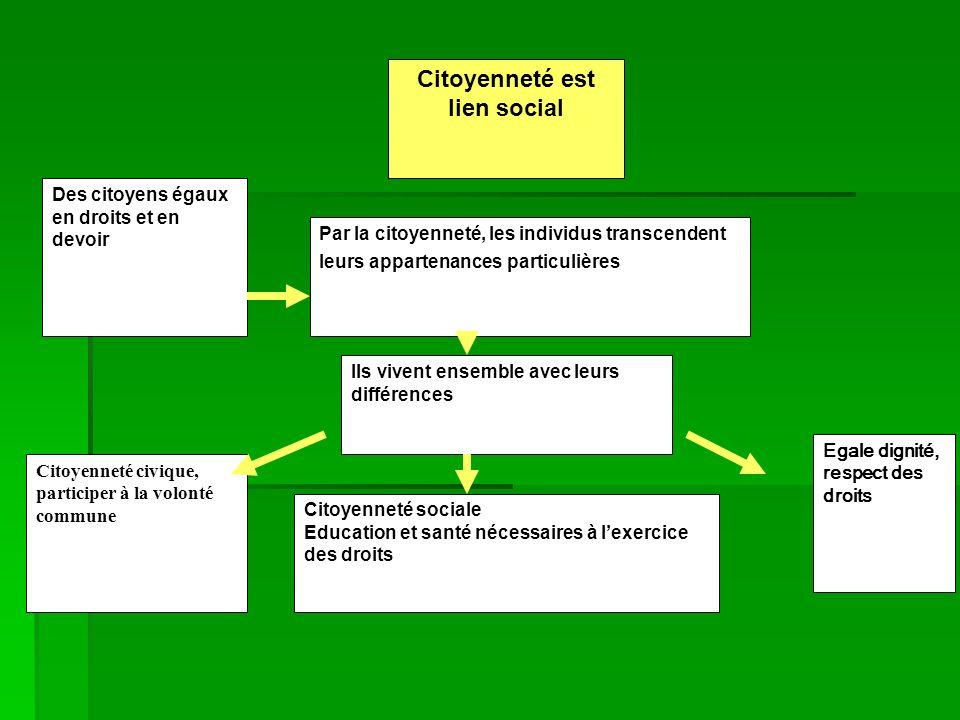 DéinstitutionnalisationMoins de règles pour guider laction Créent leurs propres normes Efficaces Des individus plus autonomes lien social coopération solidarité mécanismes régulateurs Inefficaces + - Individualisme et lien social