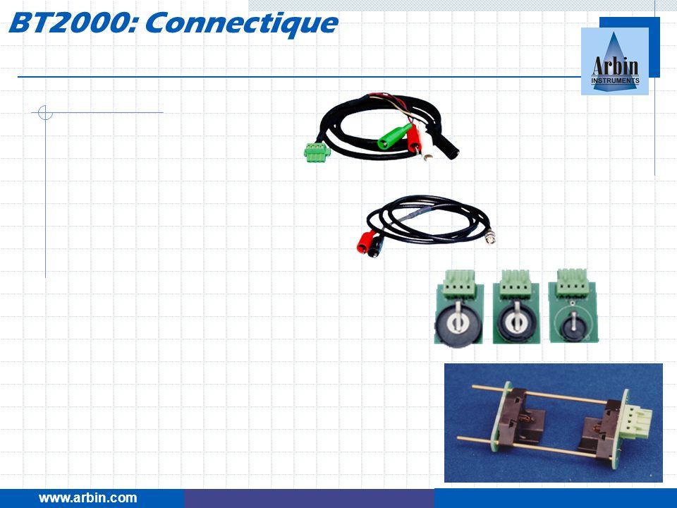 www.arbin.com BT2000: Connectique