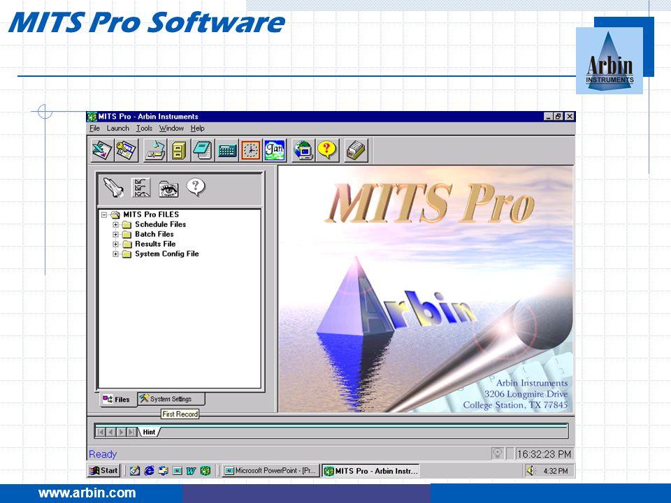 www.arbin.com MITS Pro Software