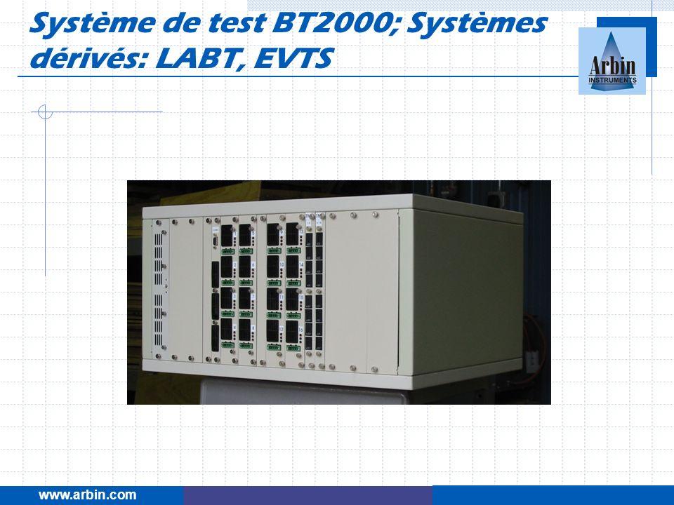 Système de test BT2000; Systèmes dérivés: LABT, EVTS