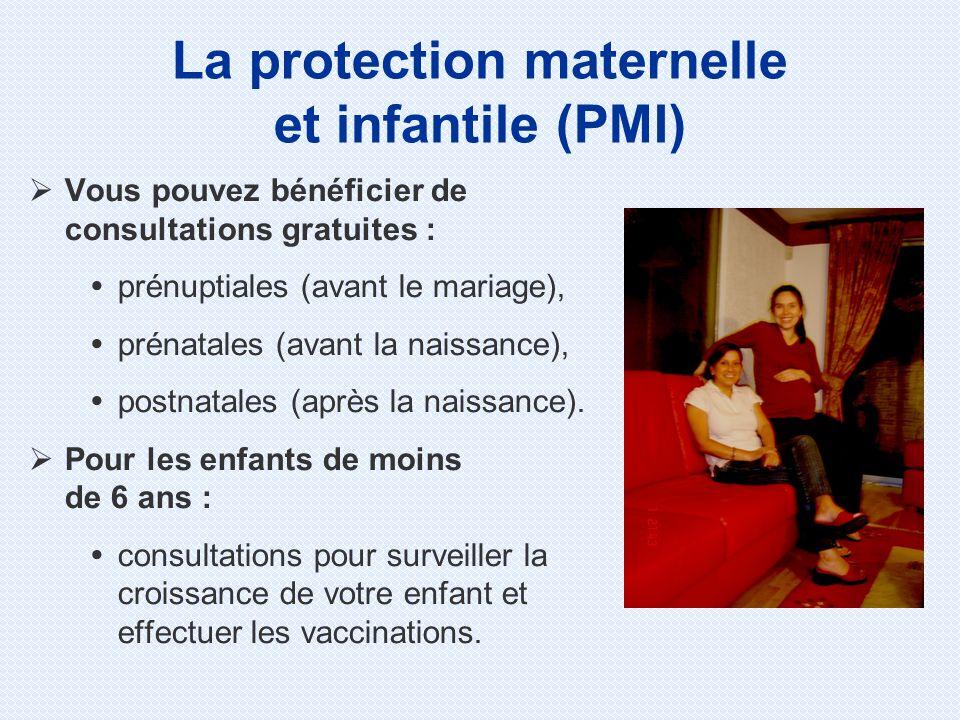 Vous pouvez bénéficier de consultations gratuites : prénuptiales (avant le mariage), prénatales (avant la naissance), postnatales (après la naissance)