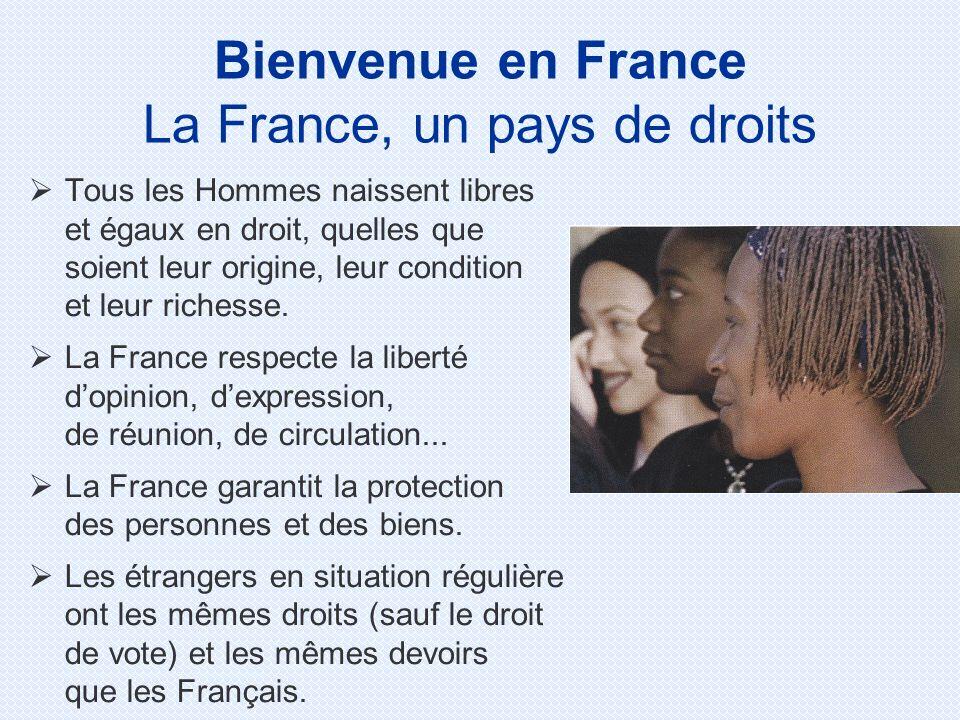 Tous les Hommes naissent libres et égaux en droit, quelles que soient leur origine, leur condition et leur richesse. La France respecte la liberté dop