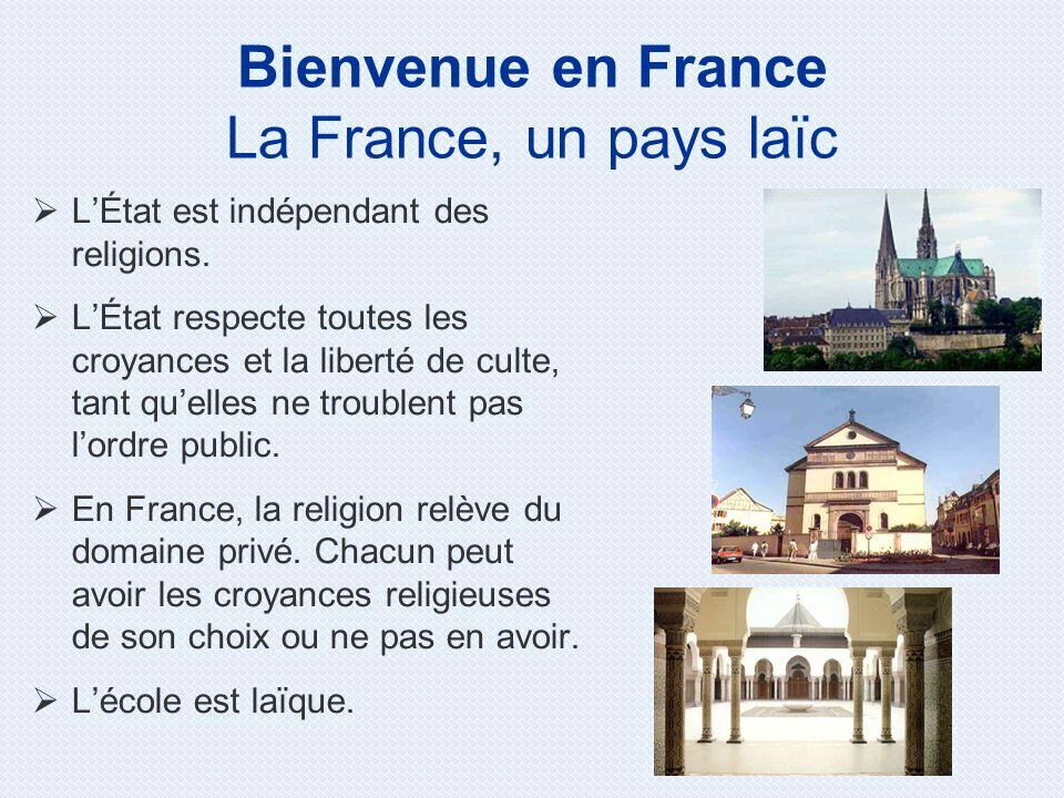 LÉtat est indépendant des religions.