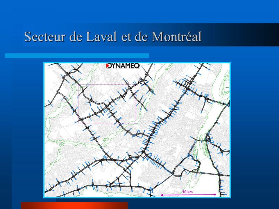 Secteur de Laval et de Montréal 10 km