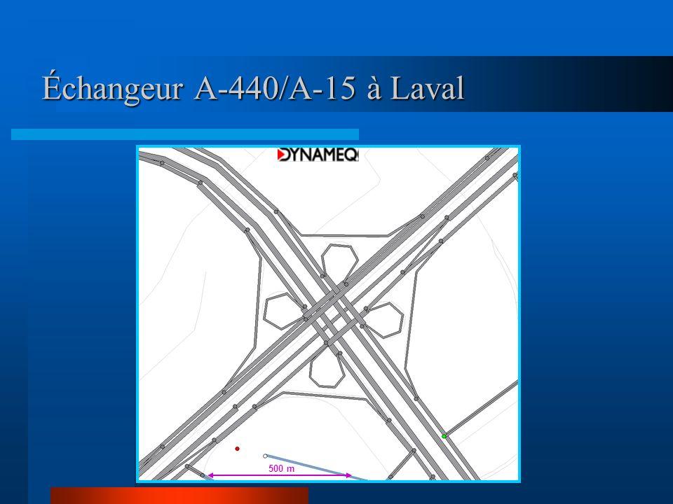 Échangeur A-440/A-15 à Laval 500 m