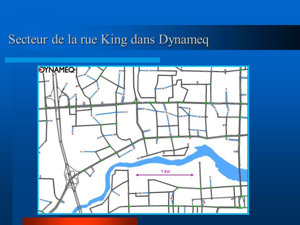 Secteur de la rue King dans Dynameq 1 km