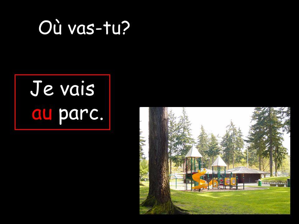 Je vais au parc. Où vas-tu?