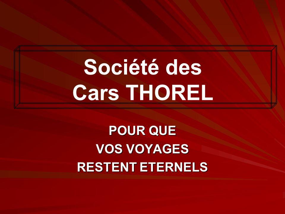 Plusieurs décennies dexistence 1/2 La Société des Cars René THOREL a vu le jour et a grandi au milieu des années glorieuses de l après guerre, se développant parmi d autres entreprises en faisant cheminer l histoire des transports en commun français.