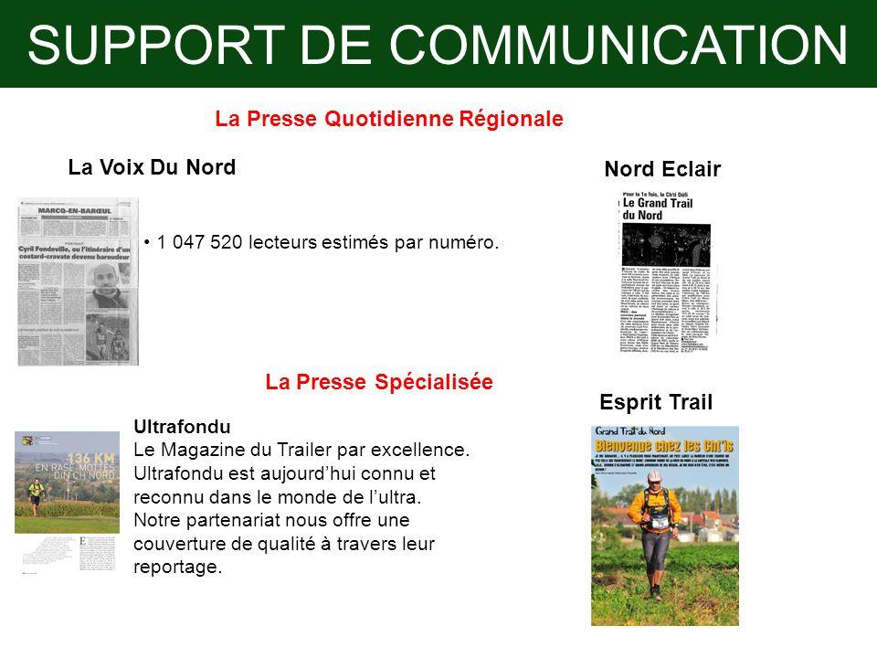 SUPPORT DE COMMUNICATION La Presse Quotidienne Régionale La Presse Spécialisée Ultrafondu Le Magazine du Trailer par excellence. Ultrafondu est aujour