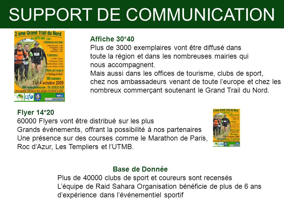 SUPPORT DE COMMUNICATION Affiche 30*40 Plus de 3000 exemplaires vont être diffusé dans toute la région et dans les nombreuses mairies qui nous accompa