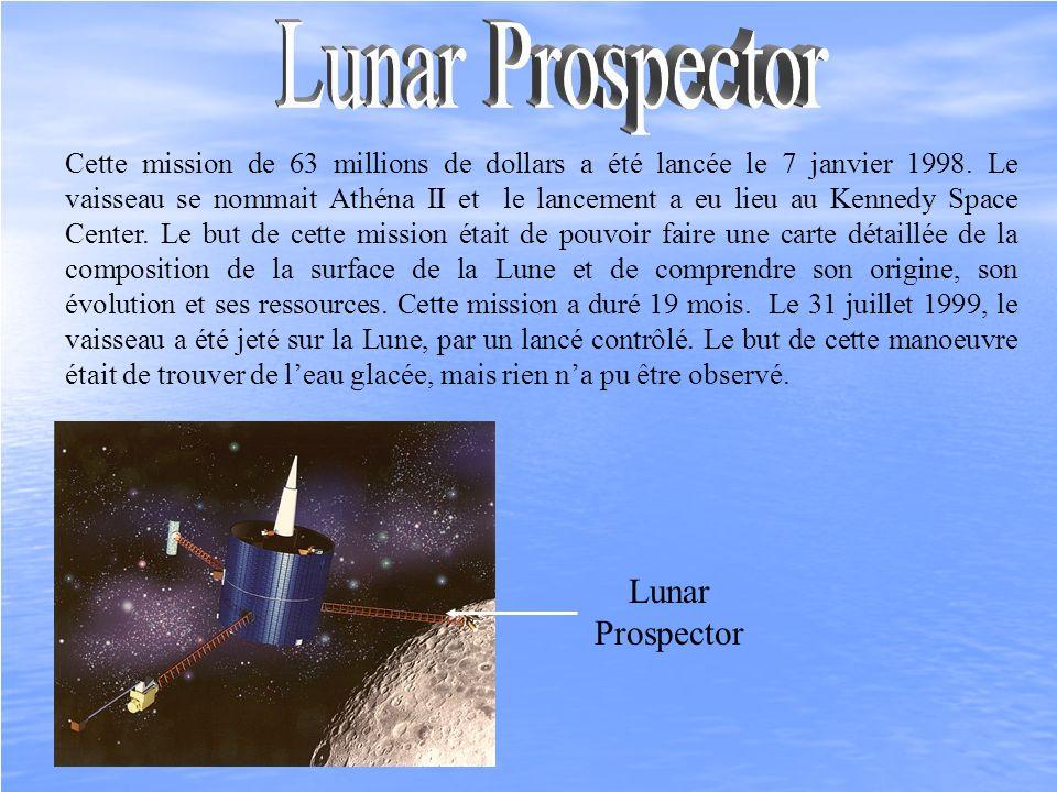 Cette mission de 63 millions de dollars a été lancée le 7 janvier 1998. Le vaisseau se nommait Athéna II et le lancement a eu lieu au Kennedy Space Ce