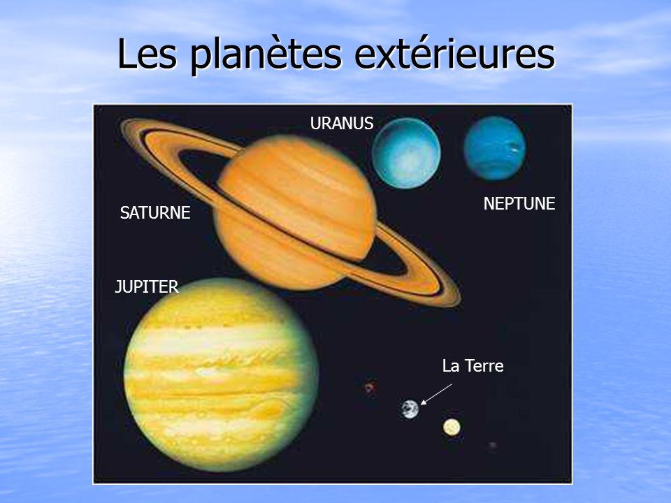Les planètes extérieures JUPITER SATURNE URANUS NEPTUNE La Terre