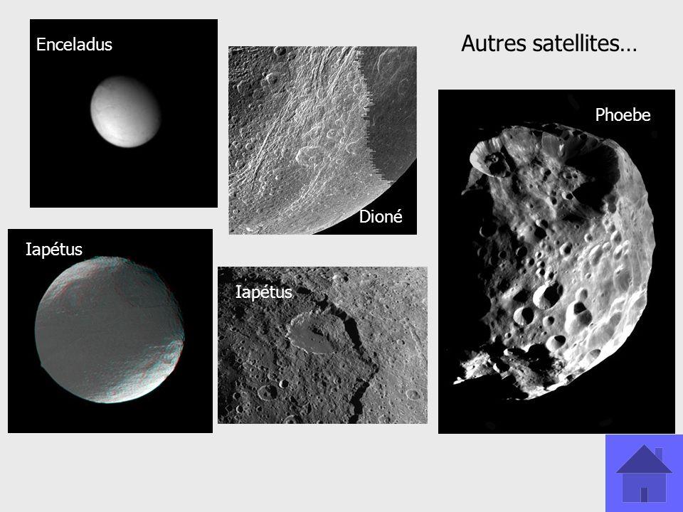 Enceladus Dioné Iapétus Phoebe Iapétus Autres satellites…