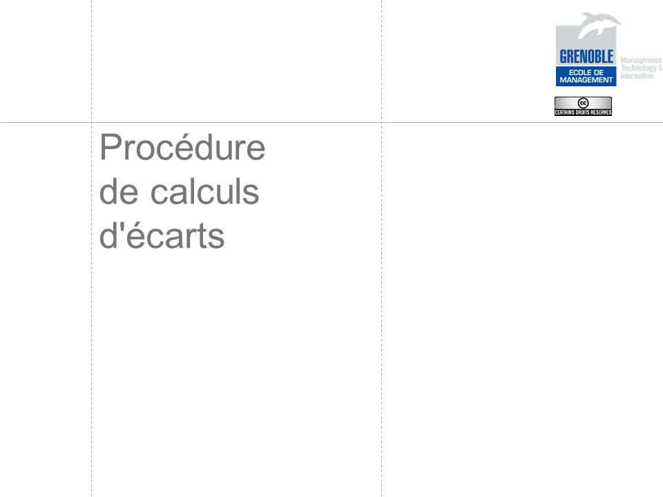 Procédure de calculs d écarts