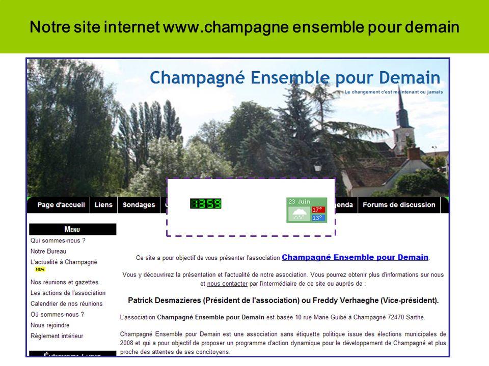 Notre site internet www.champagne ensemble pour demain