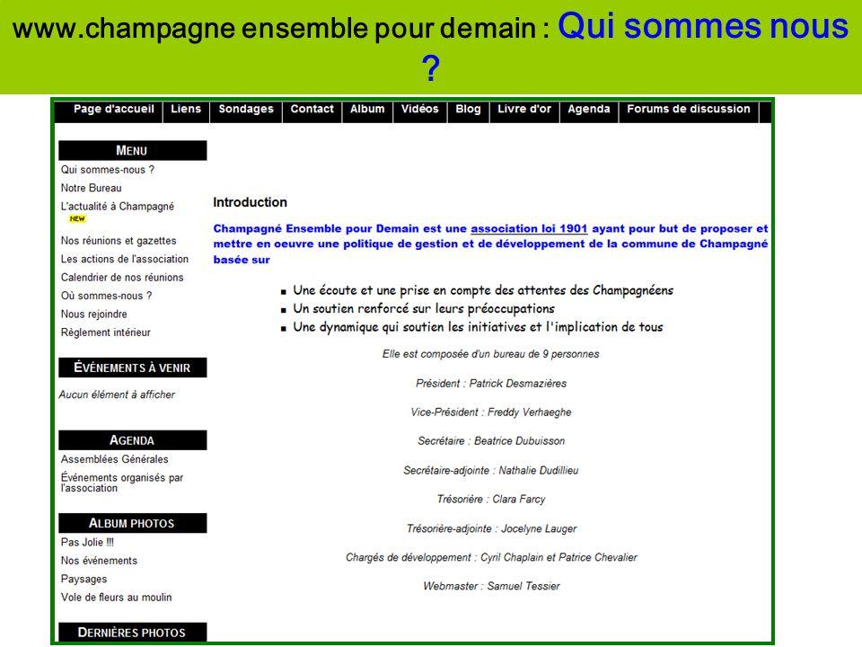www.champagne ensemble pour demain : Qui sommes nous ?