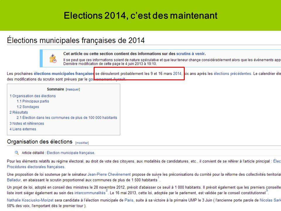 Elections 2014, cest des maintenant