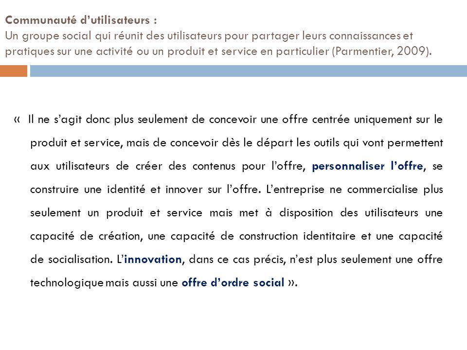 Innover avec des communautés dutilisateurs Thèse présentée en décembre 2009 par Guy Parmentier UNIVERSITE DE GRENOBLE
