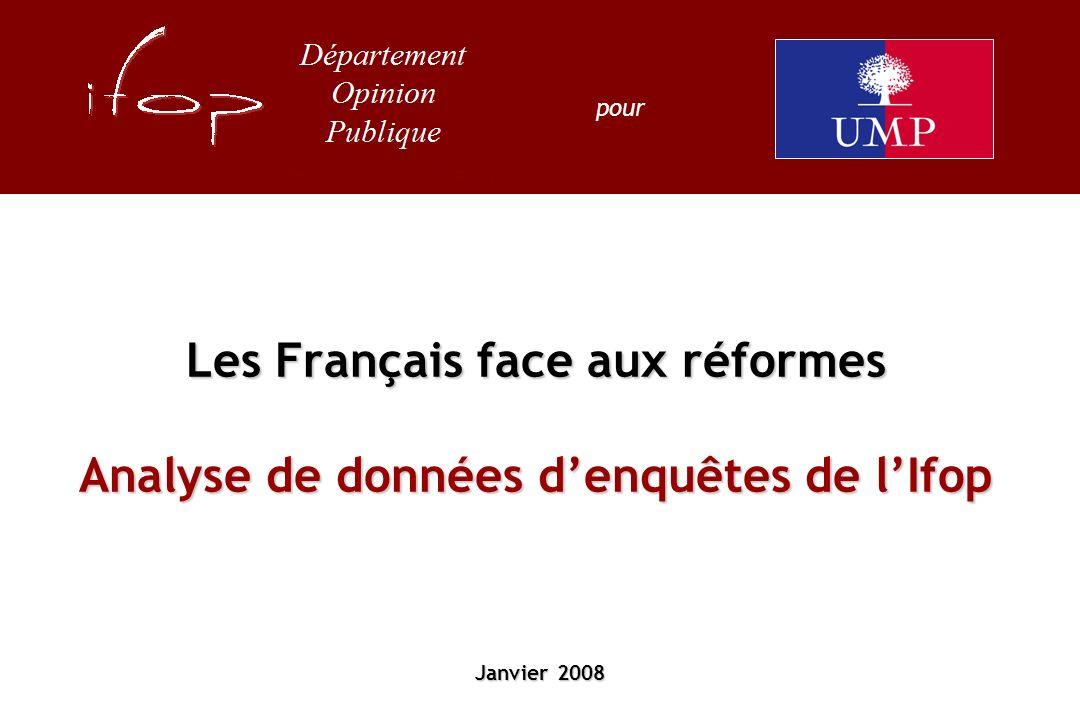 Les Français face aux réformes Analyse de données denquêtes de lIfop Janvier 2008 pour
