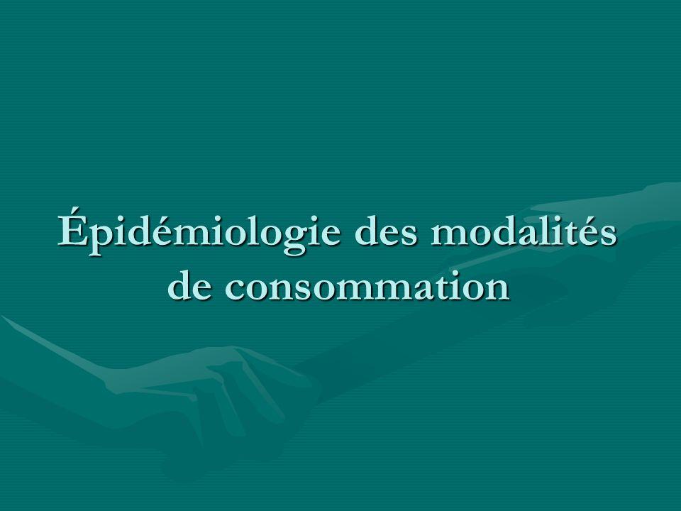 Épidémiologie des modalités de consommation