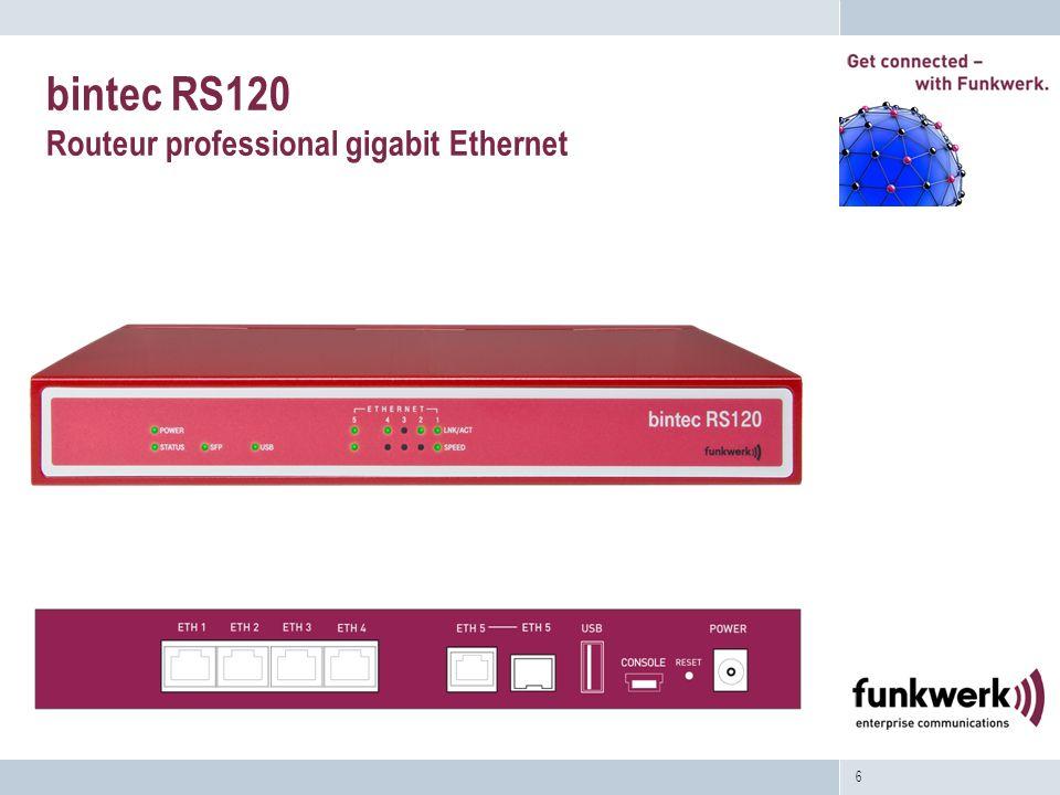6 bintec RS120 Routeur professional gigabit Ethernet