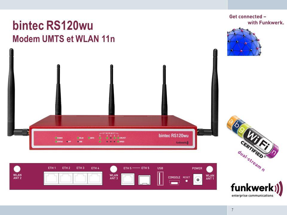 7 bintec RS120wu Modem UMTS et WLAN 11n