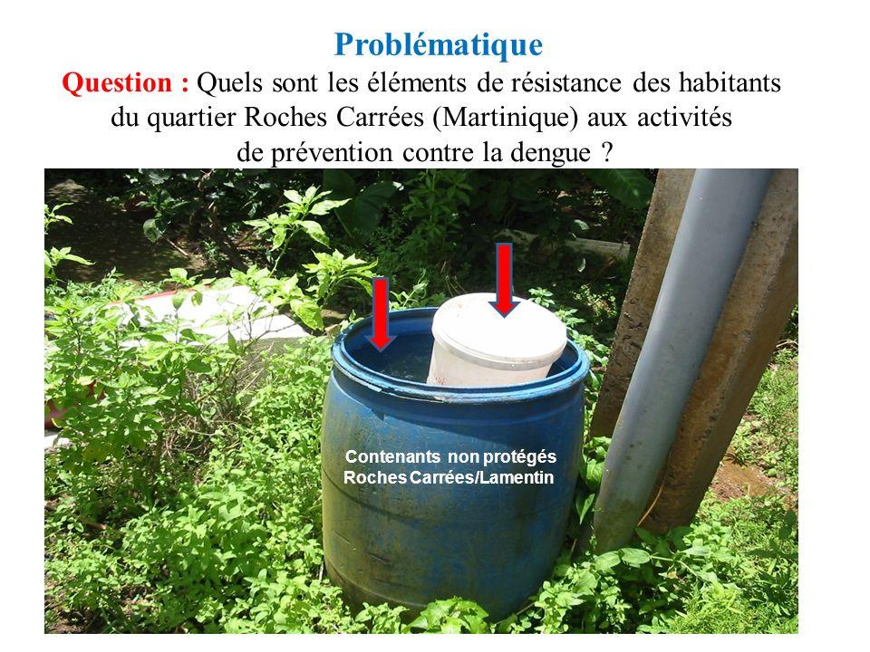 Problématique Question : Quels sont les éléments de résistance des habitants du quartier Roches Carrées (Martinique) aux activités de prévention contr
