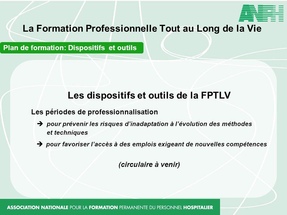 La Formation Professionnelle Tout au Long de la Vie Les dispositifs et outils de la FPTLV Les périodes de professionnalisation pour prévenir les risqu