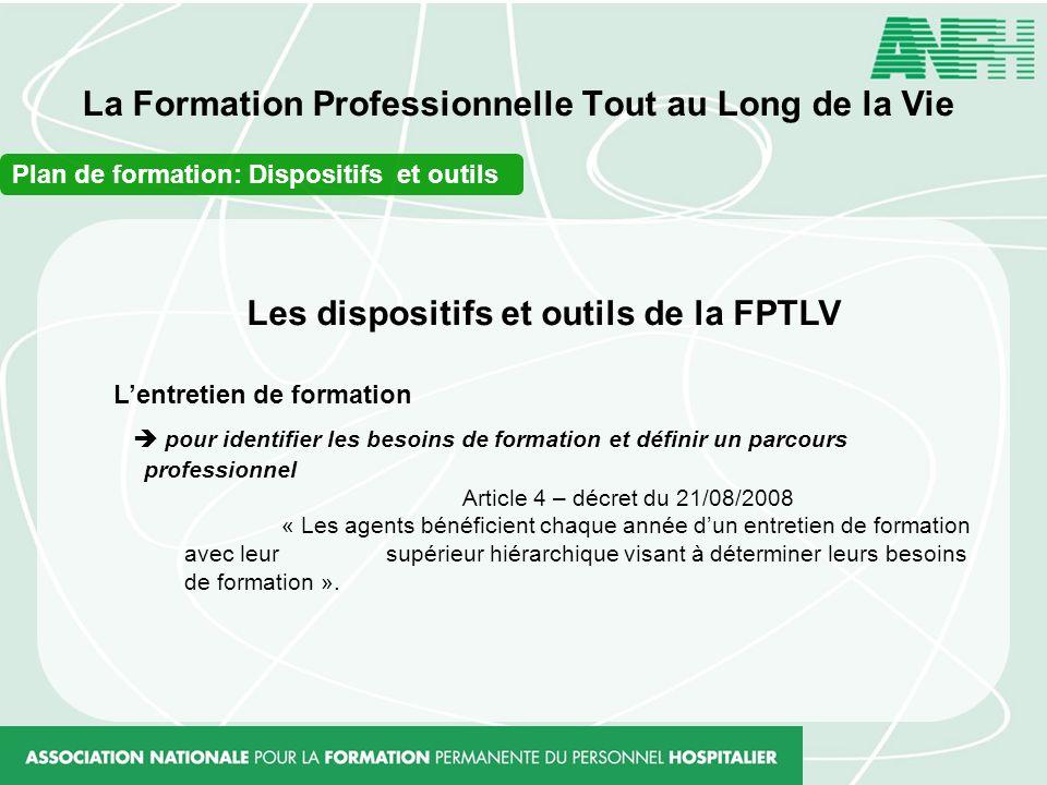 La Formation Professionnelle Tout au Long de la Vie Les dispositifs et outils de la FPTLV Lentretien de formation pour identifier les besoins de forma