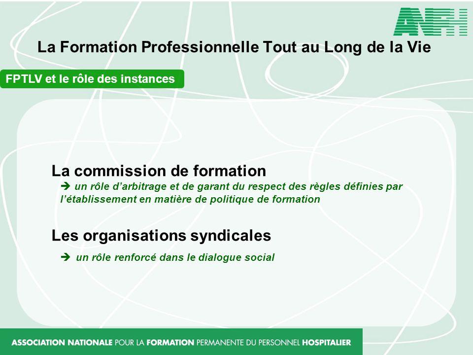 La Formation Professionnelle Tout au Long de la Vie FPTLV et le rôle des instances La commission de formation un rôle darbitrage et de garant du respe
