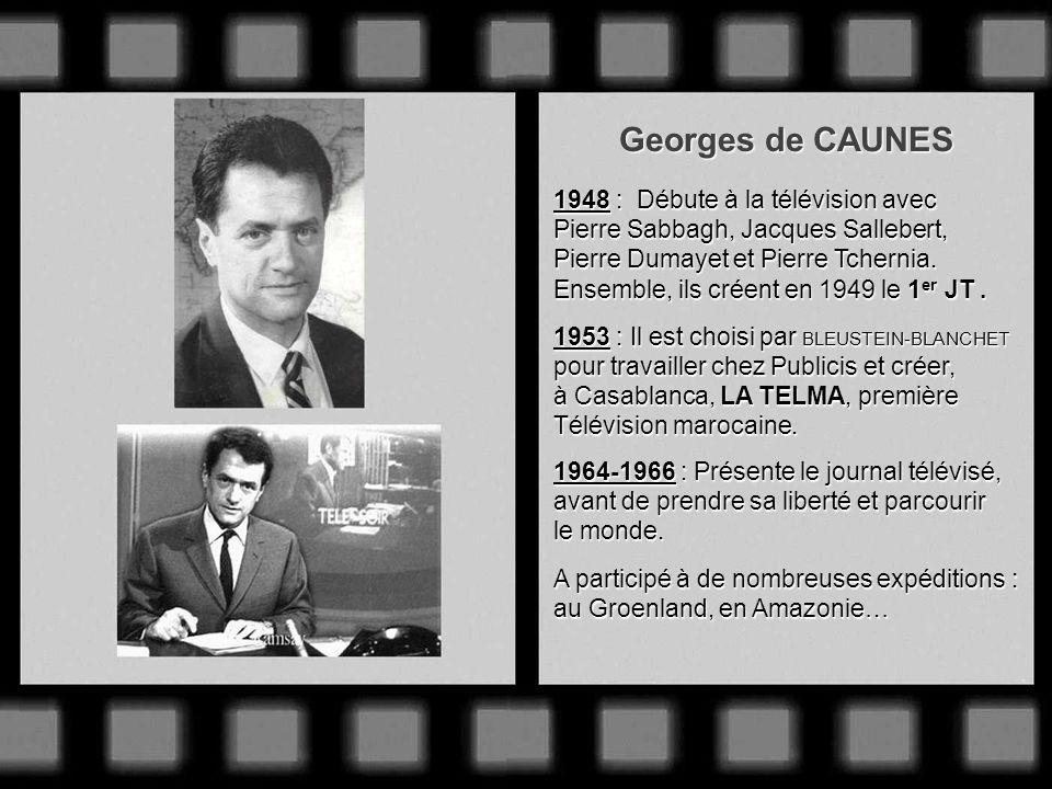 Pierre SABBAGH Innovateur de génie, la pipe toujours pendue au coin des lèvres ! Entre à la télévision en mai 1945. Dès 1949, il filme le Tour de Fran