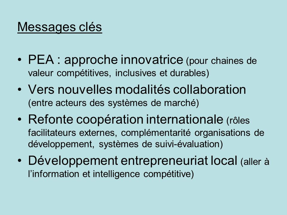 Entrepreneurial Cooperatives as partners in Agribusiness …and their information needs COOPERATIVES ENTREPRENEURIALES, PARTENAIRES DANS AGRIBUSINESS ….