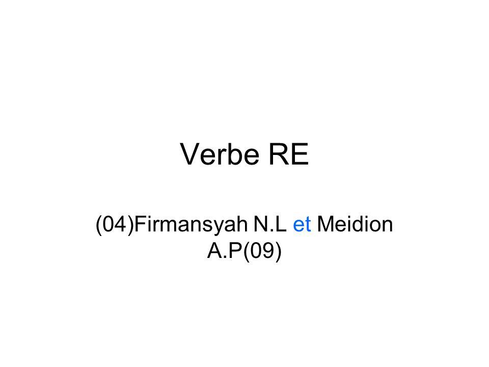 Verbe RE (04)Firmansyah N.L et Meidion A.P(09)