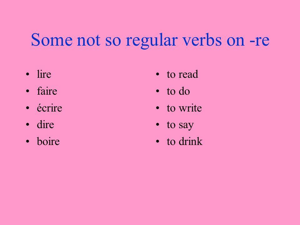 Translate 1.Mon voisin boit trop.2.Je naime pas écrire en français.